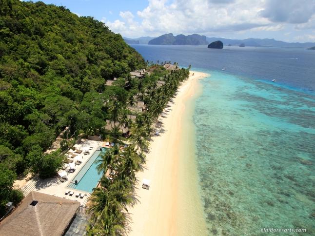 02. Pangulasian Island - Resort Aerial View